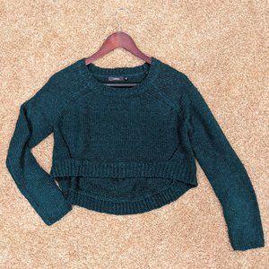 LF Emerald Green Cropped Sweater